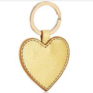 Barneys New York heart leather keychain